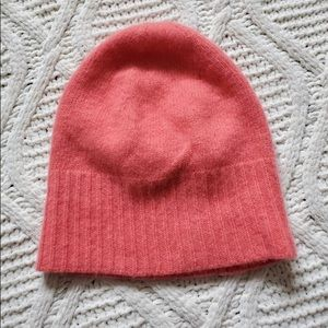 J. CREW Wool & Cashmere Beanie Coral OS